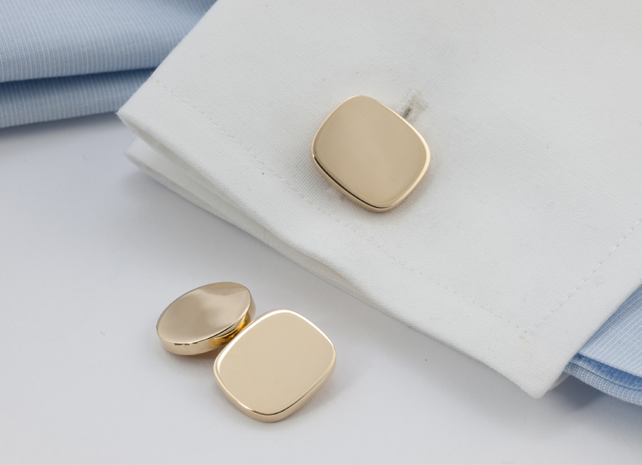 Heavy Engravable Cuff Links in Various Shapes