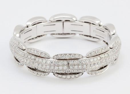 White Gold Pavé Diamond Bracelet