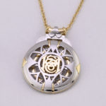 Plat Yellow gold Diamond pendant photo 3