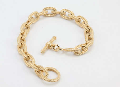 Woven Link Bracelet with Toggle Clasp
